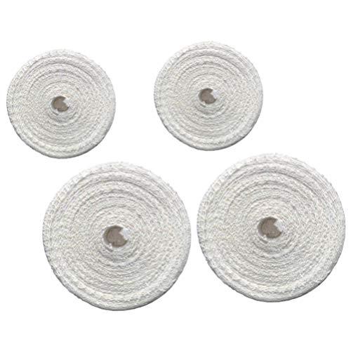 Cabilock 4 Rolle Fleischnetz Bratennetz Räuchernetz Fleisch Netz Rollbraten Netz Rollbratennetz Schinkennetz Elastische Netz für Einfüllrohr Kochzubehör 100/300 cm Weiß