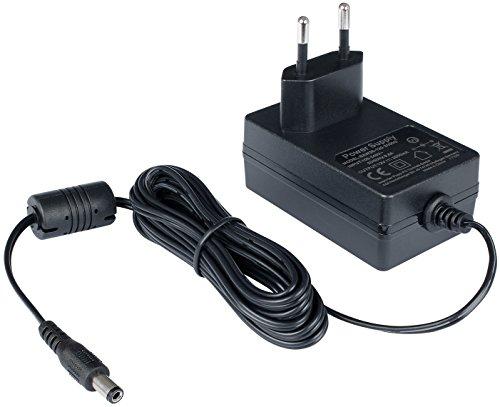 Poppstar Universal AC DC Netzteil, Steckernetzteil 12V 2A (2000mA, 5,5/2,5mm) Adapter - Stromadapter für Externe Festplatten-Gehäuse, Dockingstation UVM, 240cm