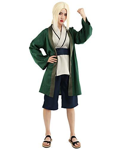 miccostumes Women's Tsunade Cosplay Costume Extra Large Green