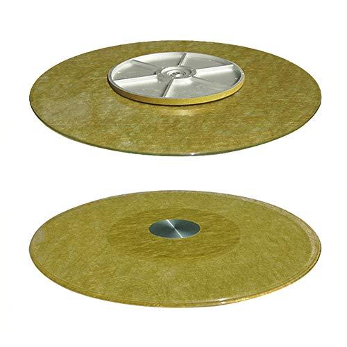 F-XW 70/80/90/100/110cm Plato Giratoria para Mesa de Comedor, Placa Giratorio de Vidrio Templado, Plato para Servir, 10 mm de Grosor, con Borde Redondeado