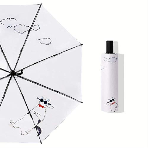 Nuevo gato fresco gafas de sol patrón señoras paraguas protección UV hombres a prueba de viento paraguas viaje paraguas YS200129WH