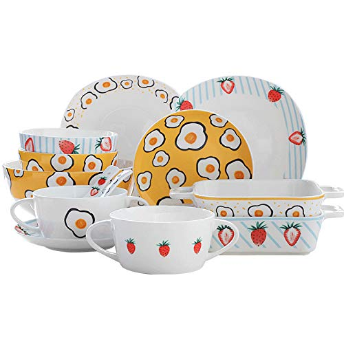 Strawberry omelette tableware ce...