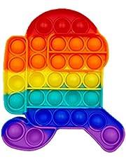 LINTONG Pop-it Toy, Push Pop-it Bubble Sensory Agitarsi Toy Toys, Giocattoli Sensoriali per Bambini e Adulti