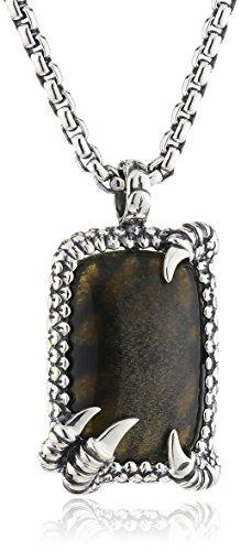 Baldessarini Herren Halskette 925 Sterling Silber rhodiniert 60 cm schwarz Y2044N/90/E3/60