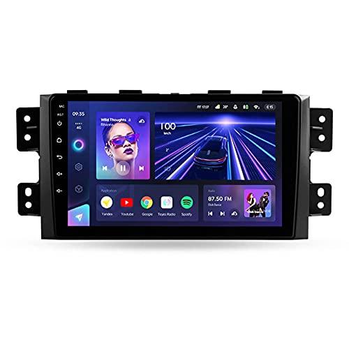 ADMLZQQ CC3 Android 10 Car Stereo Multimedia Player para Kia Borrego 2008-2011Autoradio GPS Navigation DSP/4G/ FM/MP3/USB/Control del Volante/cámara de visión Trasera,8core WiFi+4g: 6+128g