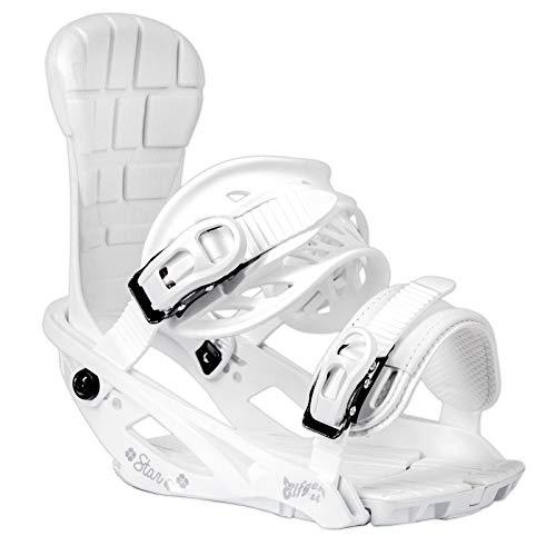ELFGEN Damen Snowboard Softboot BINDUNG Star ~ White GR. M 37-42 EU