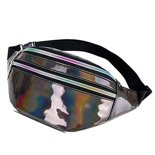 LEPSJGC Paquete de neón holográfica láser Color Deporte Riñonera for los Bolsillos de Cadera Mujeres Hombres Niños (Color : C)