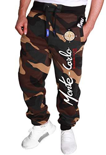RMK Herren Jogginghose Trainingshose Sporthose Jogginghose Jogger Männer Baumwolle Sweatpants H.538 S, Camou-EL_Monte