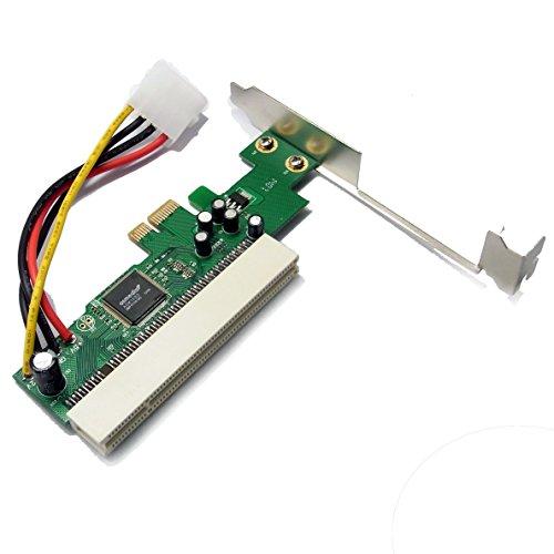 Sienoc Schnittstellenkarte PCI-Express (PCIe) zu PCI   Low Profile Format   Adapter/Adapterkarte   Netzwerk-/ISDN-Karte/Grafikkarte/I/O-Contollerkarte/Videoschnittkarte