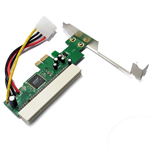 Sienoc Schnittstellenkarte PCI-Express (PCIe) zu PCI | Low Profile Format | Adapter/Adapterkarte | Netzwerk-/ISDN-Karte/Grafikkarte/I/O-Contollerkarte/Videoschnittkarte