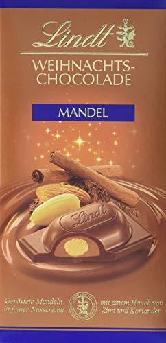 Lindt & Sprüngli Weihnachtsmandel Schokolade, 4er Pack (4 x 100 g)