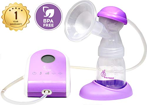 R for Rabbit Delight Electric Breast Pumps- Smart Breast Pump for Moms with Anti Back Flow,Touch Screen,Two Modes and Rechargeable...