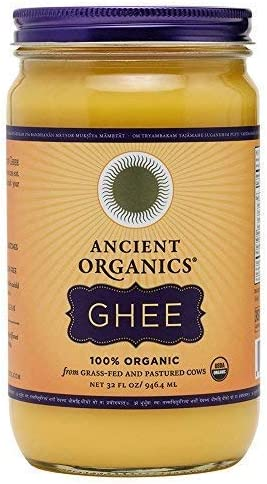 Organic Original Grass fed Ghee Butter by ANCIENT ORGANICS 32 oz Pasture Raised Non GMO Lactose product image