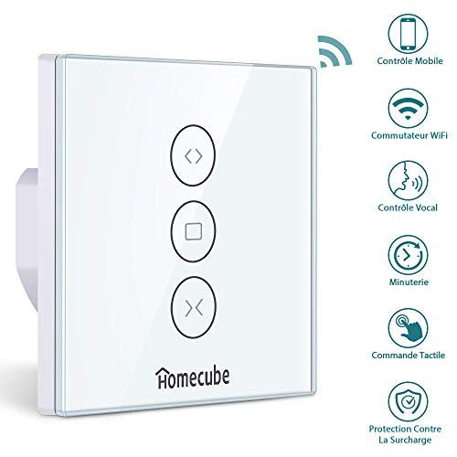 Alexa Rolladen Zeitschaltuhr,Homecube Smart wifi Rolladenschalter,Kompatibel mit Alexa und Google Home,APP Steurbar und Timer Funktion,(Schlafzimmer, Wohnzimmer, Küche, Büro)