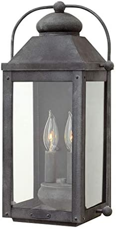 Hinkley 1854DZ Anchorage Outdoor Wall Mount Lantern with Aged Zinc Finish product image