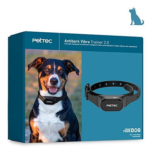 PetTec Trainingshilfe für Hunde | Trainingsimpuls mit Vibration | akkubetrieben & witterungsbeständig | Hilft sanft & schmerzfrei bei starkem Hundebellen