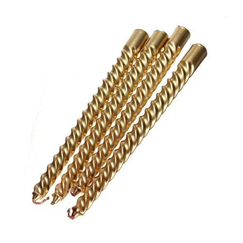 Ruiting 4Stk Lange Gold Twist Taper Candle Spiral Taper Candle Taper Verdrehte Abendessen Speisetisch Hochzeit Spiral Lange Kerzen Wachs |20.1cm Home dekor