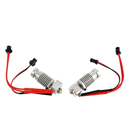 prasku Pair Extruder Nozzle Hot End Metal Kit 1.75mm/0.4mm, Fits for Robo R1 3D Printer