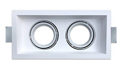 Onlineplaster 806EBISLED27 plafondinbouwlamp, gips, 26 W, natuurlijk wit, 42 x 6, 7 cm