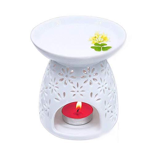 fourseasons Aromaterapia Esencial Quemador de Aceite Lámpara Cerámic