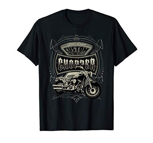 Motocicletas personalizadas | Motocicleta chopper biker Camiseta