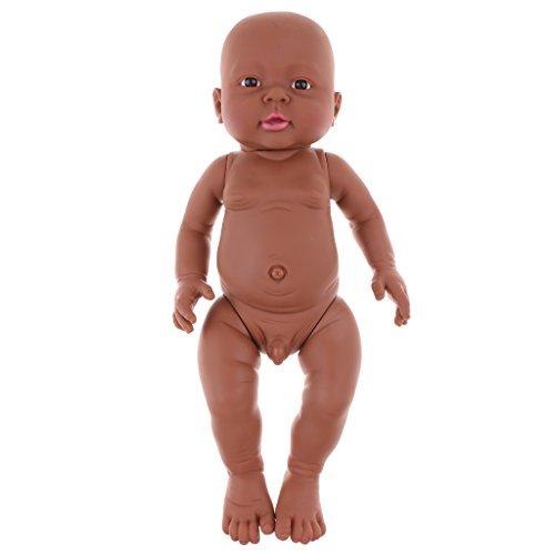 Unbekannt 41cm Lebensechte Babypuppe Vinylpuppen Neugeborenes Säugling Baby Spielzeug - Junge - 1