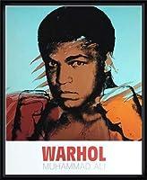 ポスター アンディ ウォーホル モハメド アリ 1977 額装品 ウッドハイグレードフレーム(ブラック)