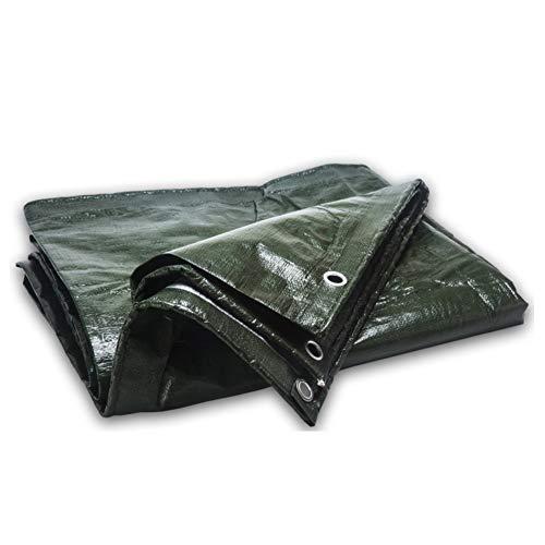 PINBUDA Épaissé Heavy Duty Bâche de Protection imperméable à l'Eau,Inusable Bâche Au Sol Tente remorque Couvercle-Vert 6 * 7m(19.7 * 23ft)