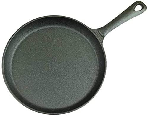 Wok Sartén de hierro fundido engrosado Filete frito Huevo frito Desayuno Sartén Pan Pan de hierro fundido Sartén antiadherente