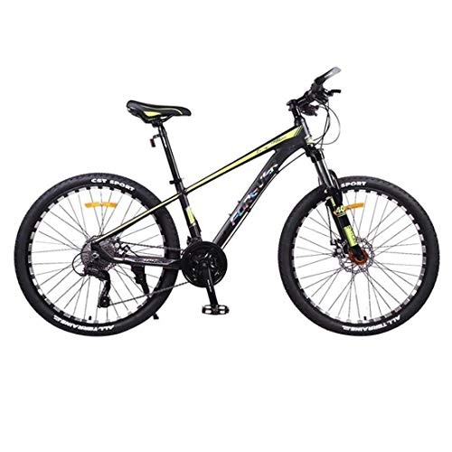 Bicicleta Montaña MTB Bicicleta De Montaña, Bicicletas 26 Pulgadas Ruedas Unisex, Marco De Aluminio De Aleación Dura De Cola De La Bici, 27 Frente Velocidad Suspensión De Doble Freno De Disco Biciclet