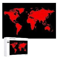 INOV 世界 地理的装飾 ジグソーパズル 木製パズル 1000ピース インテリア 集中力 75cm*50cm 楽しい ギフト プレゼント