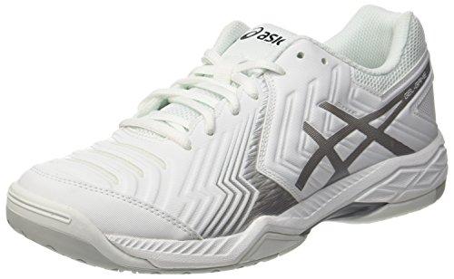 ASICS Gel-Game 6, Scarpe da Tennis Uomo, Bianco (White/Silver), 45 EU