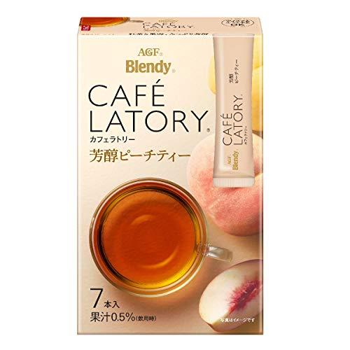 AGF ブレンディ カフェラトリー スティック 芳醇ピーチティー 7本×6箱 【 フルーツティー 】【 紅茶 スティック 】