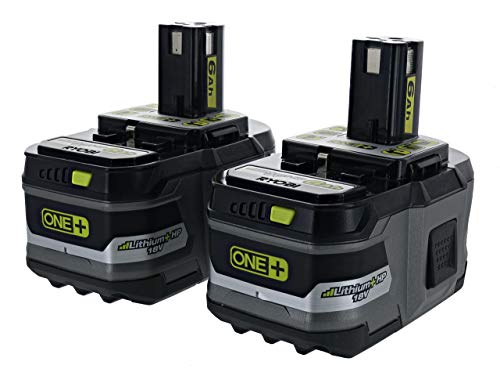 Ryobi P164: 2 Pack of P193 6.0 Amp Hour 18V Lithium Ion Batteries w/ Onboard Fuel Gauge (Renewed)