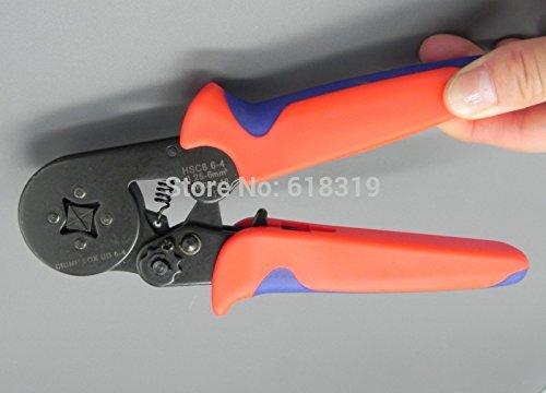 HSC8 6 4 Kabel End-sleeves Crimping Plier Zelf aanpassen Ratcheting Ferrule Crimper 0,25-6,0mm2(24-10 AWG)