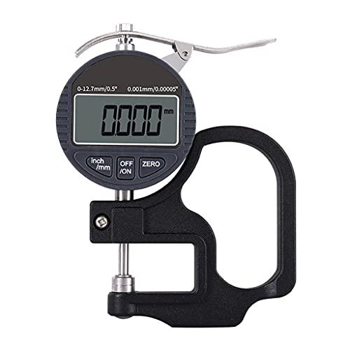 MSEKKO Medidor de Espesor de Porcentaje Electrónico Medidor de Espesor Digital Portátil 0.5 Pulgadas / 12.7mm  0,00005'/ 0,001 mm, Pulgadas/métrico