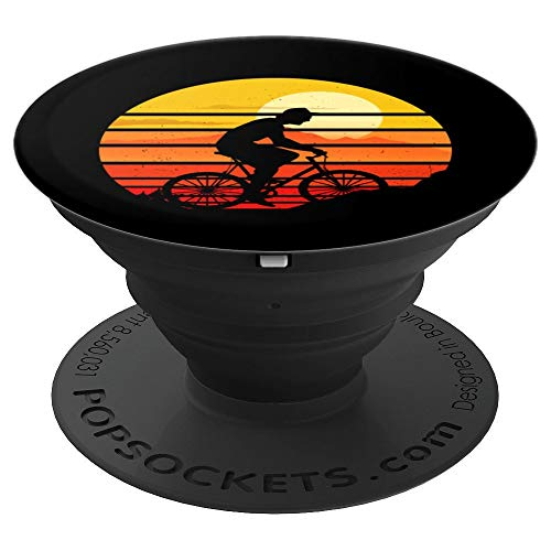 Vintage Bike Mountainbike Biker Mountain MTB Cyclists PopSockets Grip and Stand for Phones and Tablets