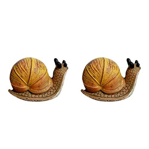 NICEXMAS 2 Piezas de Figuras de Caracol en Miniatura Adornos para Tartas Animales de Jardín de Hadas Decoraciones de Micro Paisaje