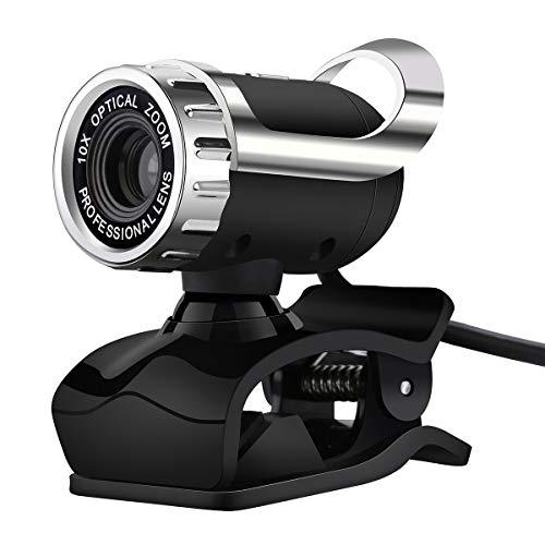 Petyoung Webcam USB con Micrófono Incorporado 12. 0Mp Clip-On O Cámara de Red de Computadora de Red Independiente Cámara Web para Computadora Portátil/Escritorio/Skype