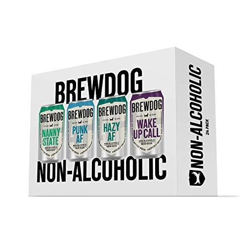 BrewDog 24 Mixed Non-Alcoholic Pack | Includes Nanny AF, Wake Up Call, Hazy AF, & Punk AF | 12oz Cans