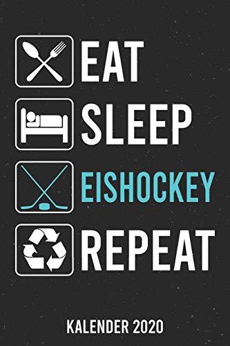 Kalender 2020: Eat Sleep Eishockey A5 Kalender Planer für ein erfolgreiches Jahr - 110 Seiten