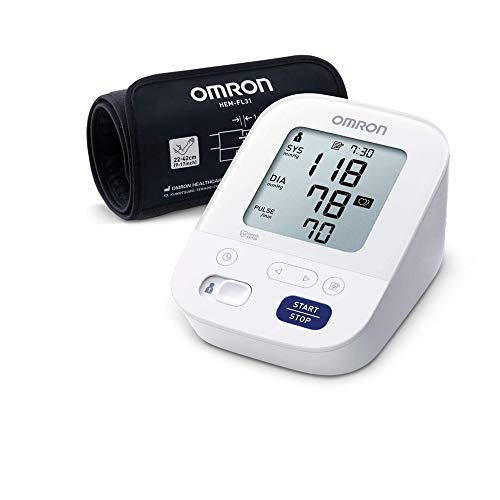 """Omron X4 Smart Blutdruckmessgerät – Messgerät zur Überwachung von Bluthochdruck – Bluetooth- und Smartphone-kompatibel – """"Gut"""" bei Stiftung Warentest 09/2020"""