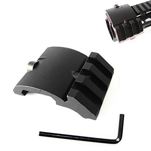 Hygoo Ultra Low Profile 45 Degree Side Picatinny Rail, 20mm Offset Picatinny Rail Mount for Red Dot Scope Sight Flashlights