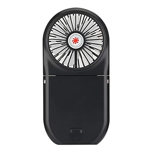 SODIAL Ventilador de EnergíA MóVil Plegable, Ventilador de Enfriamiento de BateríA Recargable USB de Velocidad Ajustable, Adecuado para Viajes en Interiores y Exteriores