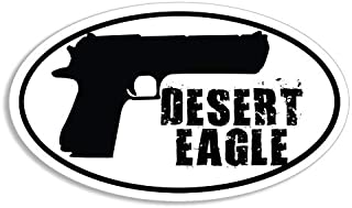 Magnet 3x5 inch Oval Desert Eagle Pistol Sticker - Decal Gun Ammo NRA Handgun 547 Gas Magnetic Magnet Vinyl Sticker