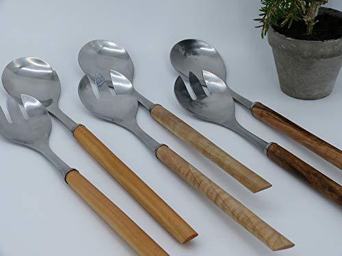 Salatbesteck aus Holz, Handarbeit aus Deutschland, Walnussholz, Kirschholz, Akazienholz, hochwertig