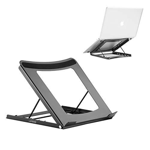 Urbo Soporte y Elevador para Ordenador portátil Plegable, Ajustable y ergonómico para una Postura más Saludable y elevar Cualquier Ordenador portátil o Notebook