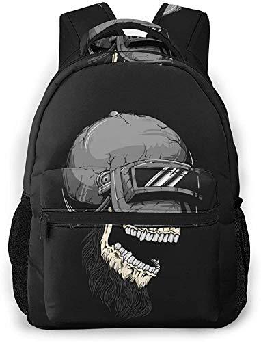 Abstract pattern with turtles Basic Travel Laptop Backpack Cool School Bag-Skull Helmet on Dark