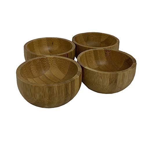 IMUSA USA WPAN-10057 - Set di 4 ciotole in bambù, 10,2 cm, colore: Marrone