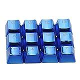 FPS and MOBA Gaming Keycaps Set para teclados mecánicos it de actualización de teclas de juego FPS y MOBAQWER/ASDF/WASD/Teclas (azul)